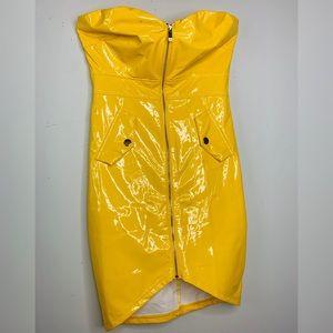 Yellow Latex Dress